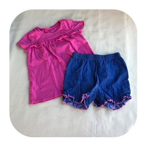 6/$15 5T Girls top & shorts outfit
